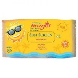 دستمال مرطوب ضد آفتاب