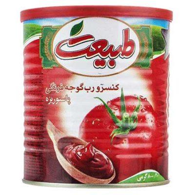 رب گوجه فرنگی طبیعت ۸۲۰ گرم آسان بازشو- باکس ۱۲ عددی