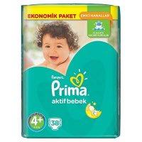 پوشک پریما پمپرز ترک سایز +۴ (۳۸تایی) Prima Pampers