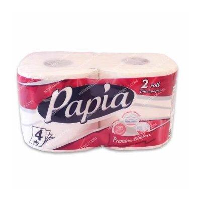 دستمال توالت 2 قلو پاپیا