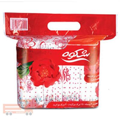 دستمال اقتصادی 300برگ گلدار شکوه