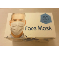 ماسک صورت 3 لایه فنردار با لایه بایکو- جعبه 50 تایی