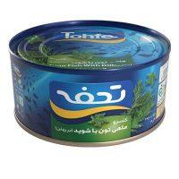 کنسرو تن ماهی تحفه با شوید درب کلیددار 180 گرمی- باکس 24 تایی