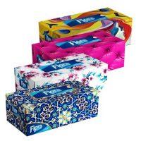 دستمال جعبه ای 300 برگ (در 12 طرح مختلف) فلورا Flora -کارتن 48 تایی