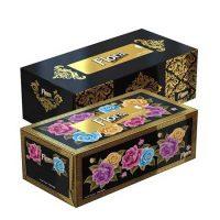 دستمال جعبه ای 300 برگ (100 برگ در سه لایه) طلاکوب فلورا Flora -کارتن 36 تایی