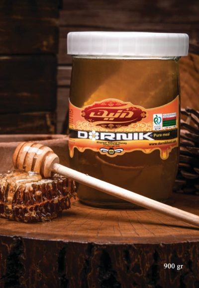 عسل درنیک خوانسار با موم شیشه 900 گرم  – کارتن 6 تایی
