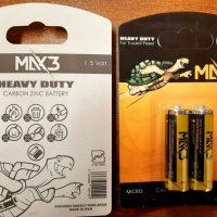 باتری قلمی max3 کارتی 2عددی جعبه 30 عددی