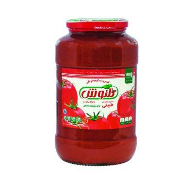 رب گوجه فرنگی شیشه ای ۱۶۰۰ گرمی گلنوش – باکس ۶ تایی