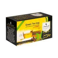 چای سبز کیسه ای طعم دار تیمن لاهیجان-کارتن 48 تایی