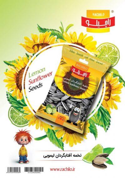 تخمه آفتابگردان لیمویی 100 گرمی راچیلو – کارتن 20 عددی