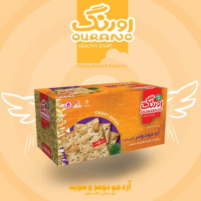 نان کاک آرد جو دوسر و شوید اورنگ 450 گرمی- کارتن 12 تایی