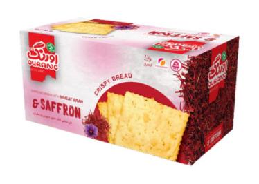 نان کاک سبوس دار زعفرانی اورنگ 400 گرمی- کارتن 12 تایی