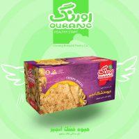 نان سنتی کاک حاوی میوه خشک انجیر 450گرمی اورنگ- کارتن 12 تایی