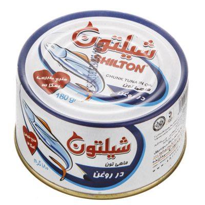 کنسرو تن ماهی شیلتون کلیددار 180 گرمی -باکس 24 تایی