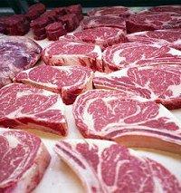 گوشت گوساله گرم